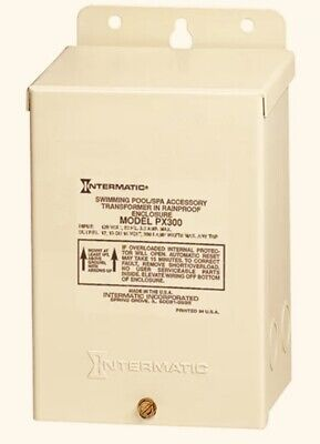 Intermatic Px300 12v 300w Transformer New Outdoor Use Missing Knock-outs.
