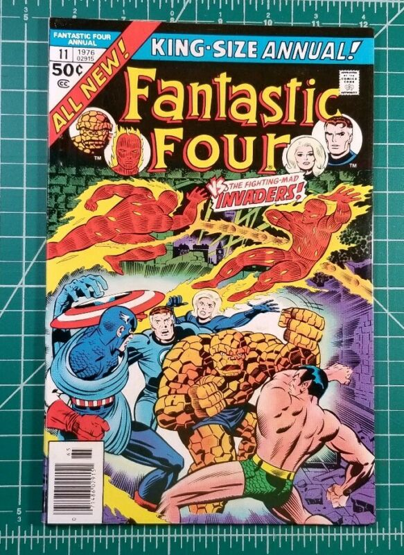 Fantastic Four King-Size Annual #11 (1976) Marvel Comics Invaders FN/VF