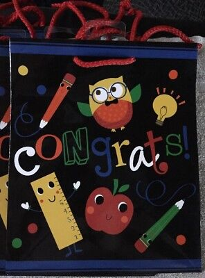 AMSCAN Gift Bags. Congrats. Great For Graduation. 7 Pack!!! - Graduation Gift Bags