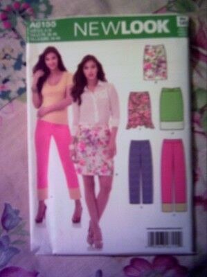 UNCUT Simplicity NEW LOOK #A6155 MISSES SKIRT and PANTS/CAPRIS Multi Sizes 8-18