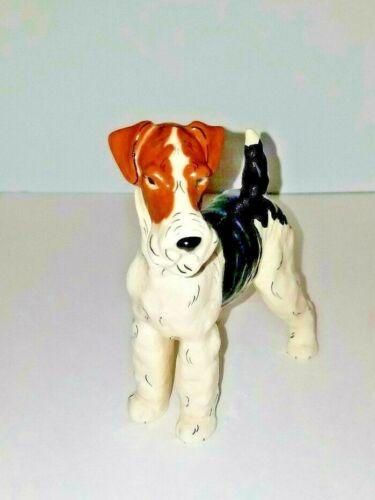 RARE Vintage Fox Terrier Kay Finch California ceramic based pottery 5 inch dog
