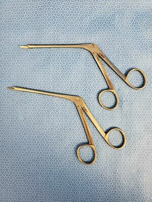 Set Of 2 Xomed 3713030 Left Angled 3713031 Right Angled Nasal Sinus Scissors