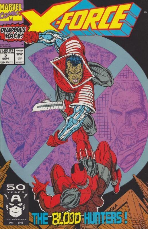 X-Force #2 Deadpool, Cable, Liefeld, Marvel Comics 1991