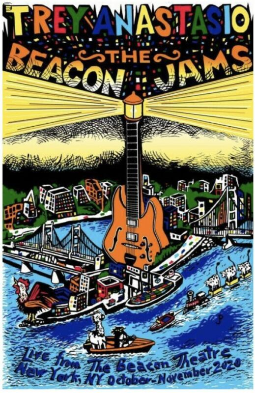 🎸 THE BEACON JAMS + Autographed by Trey Anastasio & Pollock Divided Sky Variant