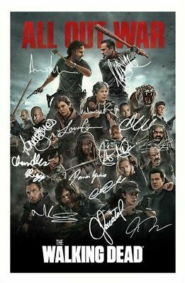 THE WALKING DEAD SEASON 8 CAST AUTOGRAPHED SIGNED A4 PP POSTER PHOTO