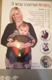 Redkite 3 way baby carrier