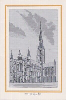 STEVENGRAPH THOMAS STEVENS STYLE SILK IMAGE BROUGH NICHOLSON SALISBURY CATHEDRAL