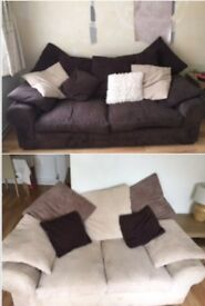 2 & 3 seater sofa. Incredibly comfortable