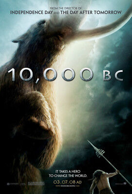 10,000 BC MOVIE POSTER 2 Sided ORIGINAL 27x40 ROLAND EMMERICH CAMILLA BELLE