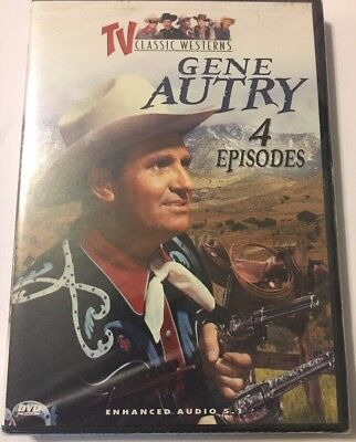 TV Classic Westerns - Gene Autry: 4 Episodes (DVD, 2003) Brand New And Sealed.
