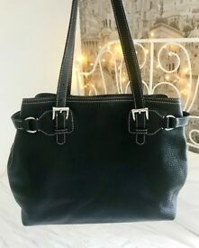 Black Leather Prada Handbag & Dust Bag
