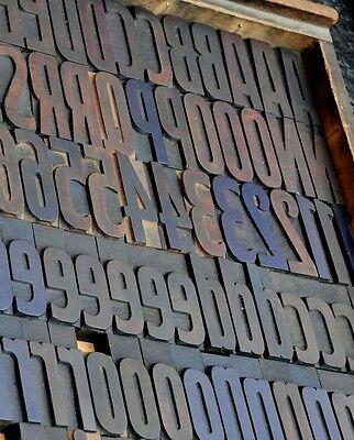 Letterpress Alphabet 171pcs - 3.54 Wood Printing Blocks Letterpress Wooden Type