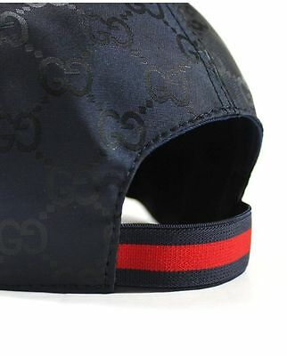 Authentic GUCCI GG Guccisima Signature Hat Baseball Cap Navy Size L Freesize