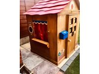 Kids wooden playhouse butchers puppet show + more! Slightly renovated