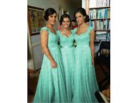 Mint Chiffon Bridesmaid Dress size 10
