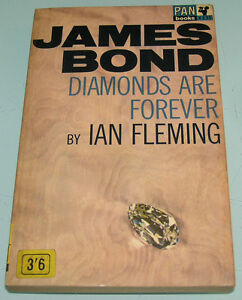 EUC-JAMES-BOND-007-DIAMONDS-ARE-FOREVER-Pan-Paperback-60s-BOOK-by-IAN-FLEMING
