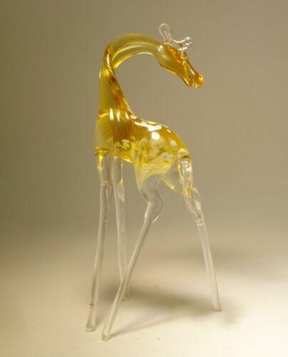 Blown Glass Art Figurine Wild Animal GIRAFFE with a Head Turned