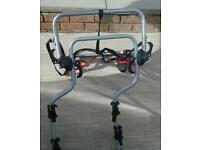 4x4 /camper van Halfords 2 bike rack to fit over spare wheel