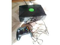 Original xbox with battlefront and controller