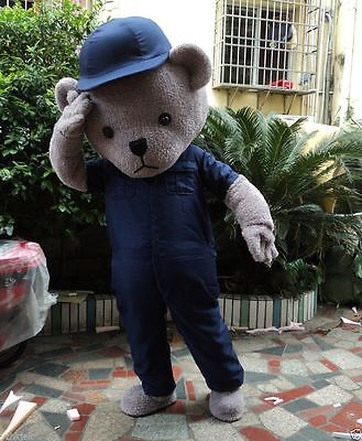 FEVA Adults Halloween Teddy Bear Mascot Costume ancy Dress party game cosplay - Adults Halloween Games