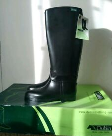 Brand New With Tags Black Dublin Tall Riding Boots Size 7