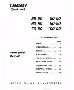 FIAT 55-90 60-90 70-90 80-90 90-90 100-90, WORKSHOP MANUAL on CD Maclagan Toowoomba Surrounds Preview