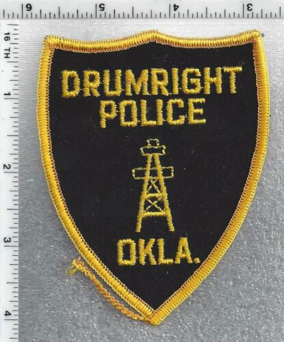Drumright Police (Oklahoma) 1st Issue Shoulder Patch