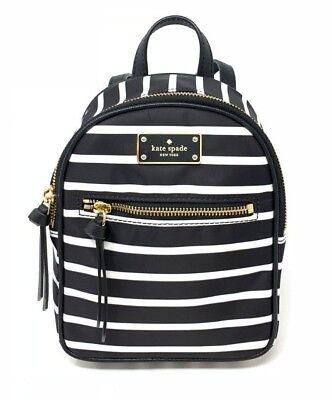 Kate Spade Mini Bradley Wilson Road French Stripe Nylon Backpack WKRU5687 - Kate Spade Stripes
