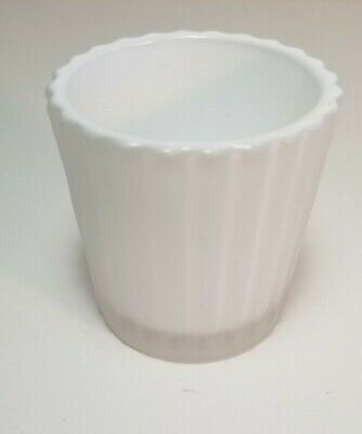 Yankee Candle - WHITE FROSTED RUFFLED Glass Votive Holder New with Tag