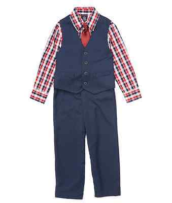 Boys Size 4 Nautica Navy & Red Vest Set Toddler & Boys Children's NWT