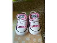 Baby girls size 3 converse