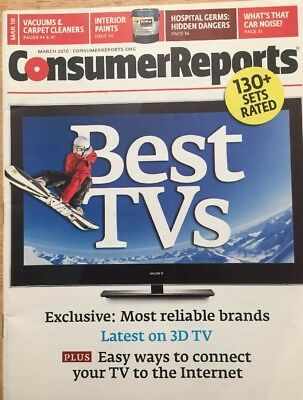 Consumer Reports (March 2010) Best TVs 130+ SETS