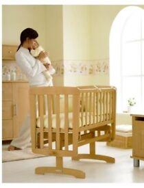 Mamas & Papas Crystal Gligding Crib (Natural)