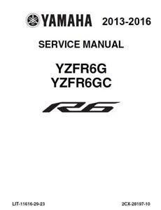 Yamaha yzf r6 tool kit and owners manual german.