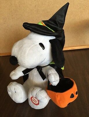SNOOPY HALLOWEEN MUSICAL ANIMATED PLUSH in WITCH COSTUME PEANUTS 2009 - Snoopy Halloween Costumes