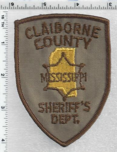 Claiborne County Sheriff (Mississippi) 2nd Issue Shoulder Patch