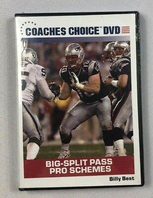 Coaches Choice DVD Football Big Split Pass Pro Schemes Billy Best NEW (Best Football Coaching Dvds)