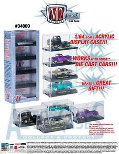 ACRYLIC DISPLAY SHOW CASE FOR 1/64 SCALE CARS BY M2 MACHINES 34000-01