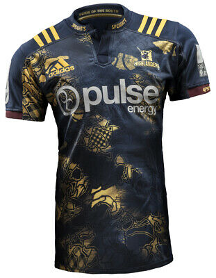 Highlanders Otago New Zealand 2017 Adidas Lions Tour Rugby Shirt Jersey L New