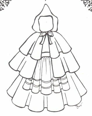 Red Ridding Hood Cape (SEWING PATTERN fits 15 16