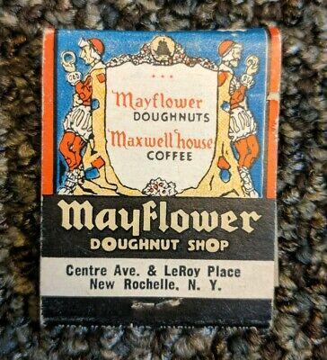 MAYFLOWER DONUT SHOP Times Square New York City NY 1930's Vintage Matchbook
