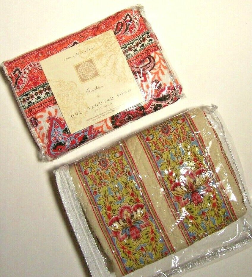 """STANDARD QUILTED MULTI COLOR 100% COTTON SHAM 20"""" X 26""""  NEW"""