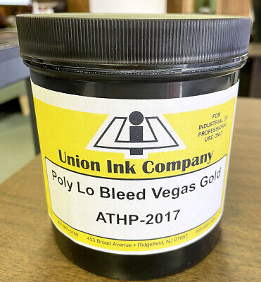 Union Ink Athletic Plastisol Ink-quart-low Bleed Vegas Gold - Quart Athp2017q