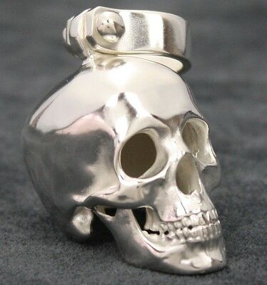 Gebraucht, Totenkopf Anhänger Biker Schmuck Harley Skull Sterlingsilber 925 Kettenanhänger gebraucht kaufen  Sinsheim