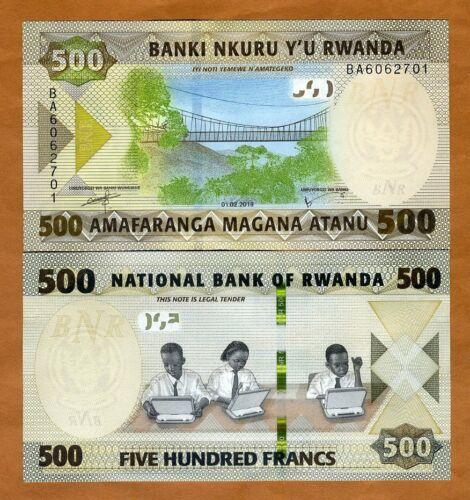Rwanda, 500 Francs, 2019, P-New, UNC > Schoolchildren, Bridge