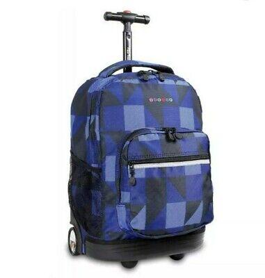 """J WORLD NEW YORK Sunrise Rolling Backpack 18"""" BLOCK NAVY"""