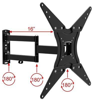 TV Wall Mount Full Motion Bracket Fits 32 - 55 Inch LED LCD Flat Screen Lcd Tv Flat Wall Mount
