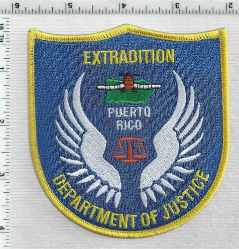 Puerto Rico Department of Justice Extradition 1st Issue Shoulder Patch