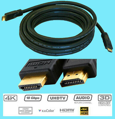 ULTRA GOLD HDMI 20 foot Audio Video Cable CL2 24 AWG 1.4 HDTV LED TV 4K 18Gbps Hdtv-led-tv