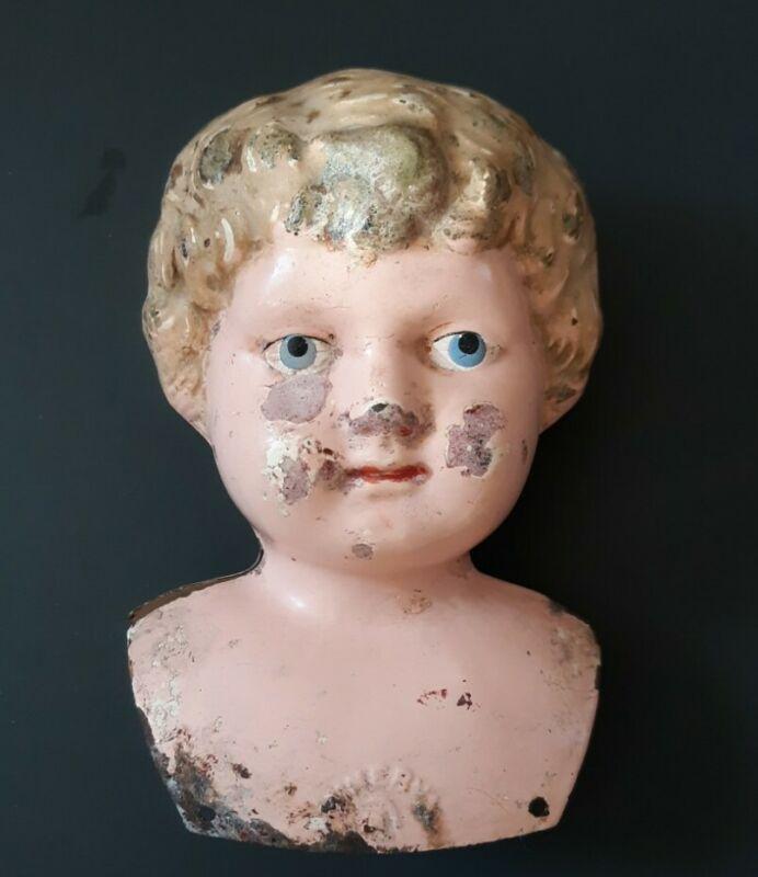 Vintage Metal Minerva Doll Head 6  for Parts/Repair